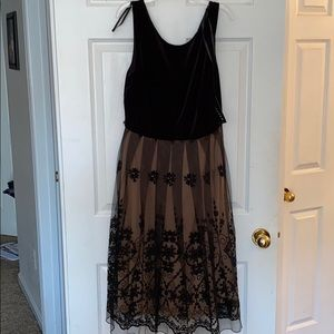 Beautiful new with tags velvet and lace gown.